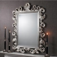Royale Mirror Silver Leaf | French Feature Mirror Silver | French Style Mirror