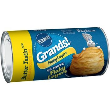 Pillsbury Grands!™ Flaky Layers Butter Tastin'™ Biscuits 8 ct Can - Walmart.com