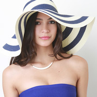 Striped Floppy Sun Hat