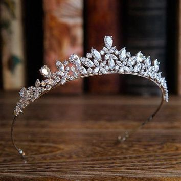 DCCKFV3 Bavoen New Arrival High quality European Brides Cubic Zirconia Tiara Headpieces Evening Crown Hair Accessories