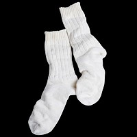 Linen Mix Socks, Ivory