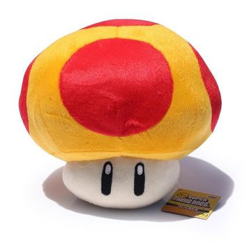 "Super Mario party nes switch Golden mushroom plush  Mushrooms Stuffed Dolls Plush Toys 8"" inch AT_80_8"