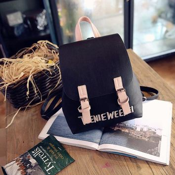 Girls bookbag LUYO Letter Embroidered School Bags Casual Small Leather Women Travel Cute Fashion Backpack For Girls Sack Bookbag Cheap Youth AT_52_3