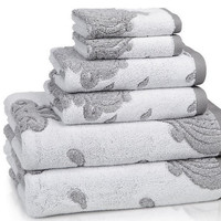 kassatex roma towels | tile-grey