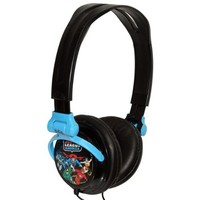 iHip DCF2400JL Classic Justice League Hi-Fi Noise Reducing, Folding Headphones Black/Blue