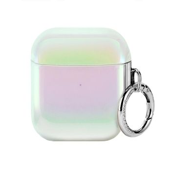 White Opal Airpods Case