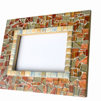 Mosaic Accent Mirror, Decorative Mirror, Wall Mirror
