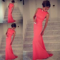 Leshery New Sexy Women Sleeveless Prom Ball Cocktail Party Dress Formal Evening Gown