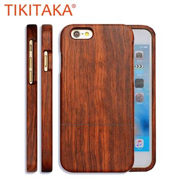 Natural Wood Case For iPhone 7 6 6s Plus 5 5s SE Cover High Quality Durable Real Wooden Rosewood Bamboo Walnut Phone Cases Shell