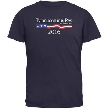 DCCKJY1 Election 2016 T-Rex President Logo Funny Navy Adult T-Shirt