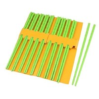 uxcell® Uxcell Plastic Kitchen Dishware Nonslip Chopsticks 10 Pairs Green