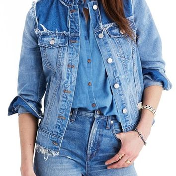 Madewell Distressed Denim Jacket | Nordstrom
