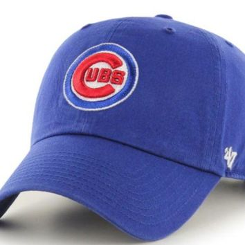 ONETOW Forty Seven Brand Chicago Cubs Clean Up Hat In Royal
