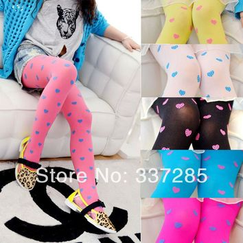 New fashion free shopping baby kids child girls children's tights heart-shaped baby kids child girls lovely baby
