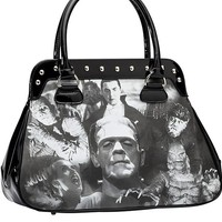 "Women's ""Monster Collage"" Handbag by Rock Rebel"