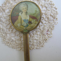 French Hand Held Vanity Mirror Marie Antoinette French Vanity Mirror French Cottage Bedroom Vanity Decor French Bathroom Decor Antique Decor