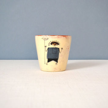 Vintage Ron Scharf California Studio Pottery Cup
