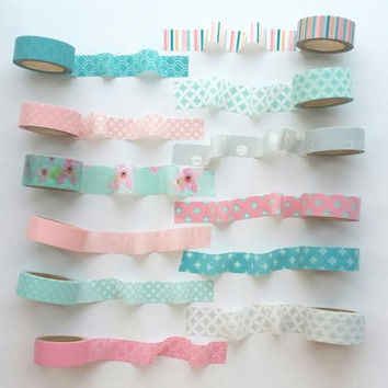 Bible Journaling Pastel Washi Tape Sample pack
