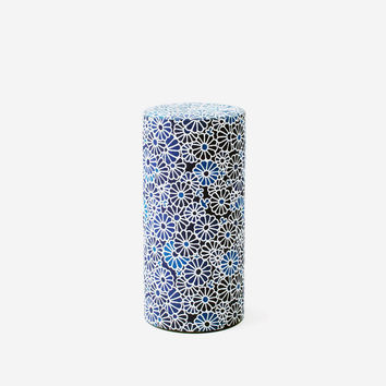 Washi Tea Canister, Indigo