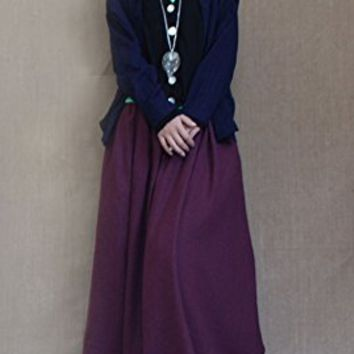 Women's Linen Skirt Long Skirts Plus Size