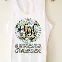 Custom Tank top 5 Seconds Of Summer  flower Funny Shirt  for Tank top Mens and Tank top Girl Size S-XXL by JumatanBro