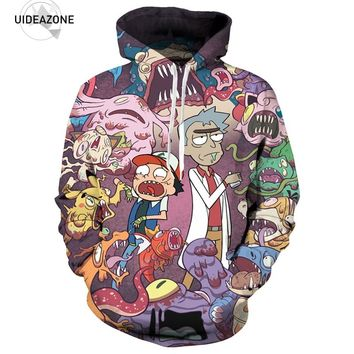 Rick and Morty Hoodies Men Women 3D Sweatshirts Pullover Autumn Tracksuit Sudadera Hombre Casual Cartoon Anime Hoodie Dropship