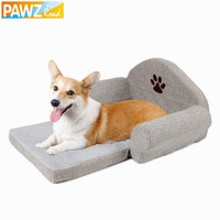 Freeshipping Dog Bed Pet Soft Cushion Kennel Cute Paw Design Pet Sofa Gray Color Dog Sofa Dog House Winter For Pet Great Quality