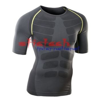 by dhl or ems 50pcs Men Compression Base Layer Long Sleeve Sports Gear Shirts Fitness GYM Tops M-XL