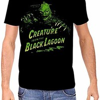 Universal Monsters Creature from The Black Lagoon Men's Black T-Shirt