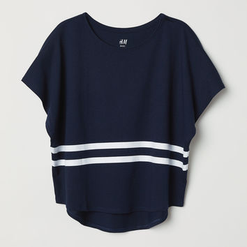 Modal-blend Top - Dark blue - Kids | H&M US