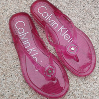 Calvin Klein Casual Fashion Women Multicolor Sandal Slipper Shoes