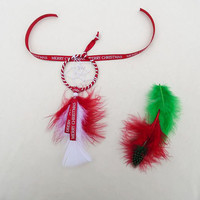 Christmas dreamcatcher ornament