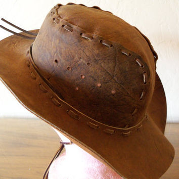 Vintage Cowgirl Hat Custom Leather Cowboy by TheTravelingOwlShop