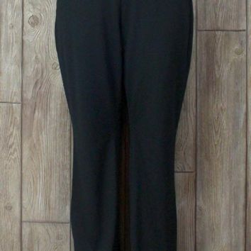 New J Jill Wearever Pants L size Smooth Fit Barely Bootcut Womens Black