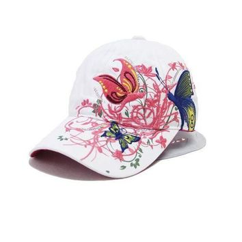 ESBG8W New Fashion China Style Baseball cap Fashion Leisure Flowers Hats Vintage Adjustable Baseball Hat Cap For Women 2 colors