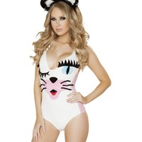 Flirty Kitty Cat Bodysuit Costume