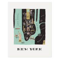 New York/Manhattan City Print