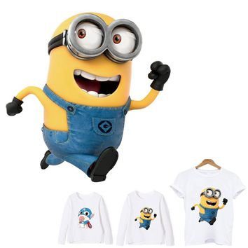 transfert thermocollants t-shirt Despicable Me Minions patch ironing applications for clothing iron on patches stripe applique