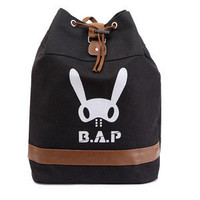 B.A.P BAP KPOP BLACK CANVAS BAG BACKPACK NEW FREE SHIPPING