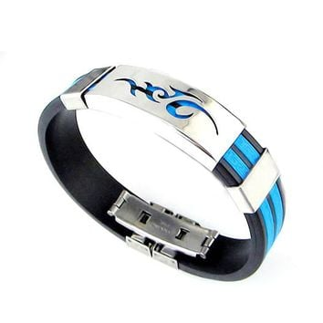 Flame Logo Steel Bracelet Bangle