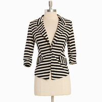 harper hayes striped blazer - $46.99 : ShopRuche.com, Vintage Inspired Clothing, Affordable Clothes, Eco friendly Fashion