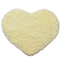 70x80cm Shaggy Heart Shower Rug Bath Mat Carpet Bedroom Door Mat