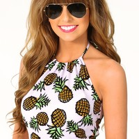 Pineapple Under The Sea Top: Multi