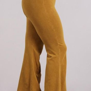 Chatoyant Plus Mineral Wash Bell Bottoms Butterscotch