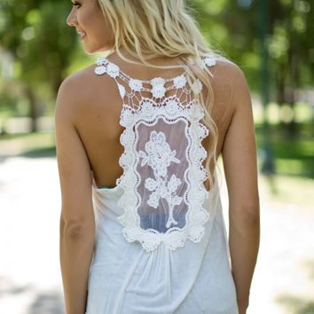 Check Back Later Tank in Ivory