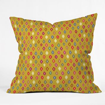 Sharon Turner Sunny Little Ikat Diamonds Throw Pillow