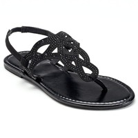 Candie's Women's Embellished Thong Sandals