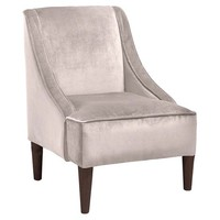 Quinn Swoop-Arm Chair, Velvet Gray