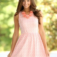 EVERLY:Morning Glory Dress-Candy Pink