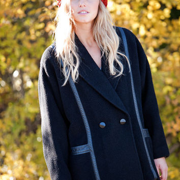 Black Bando Coat
